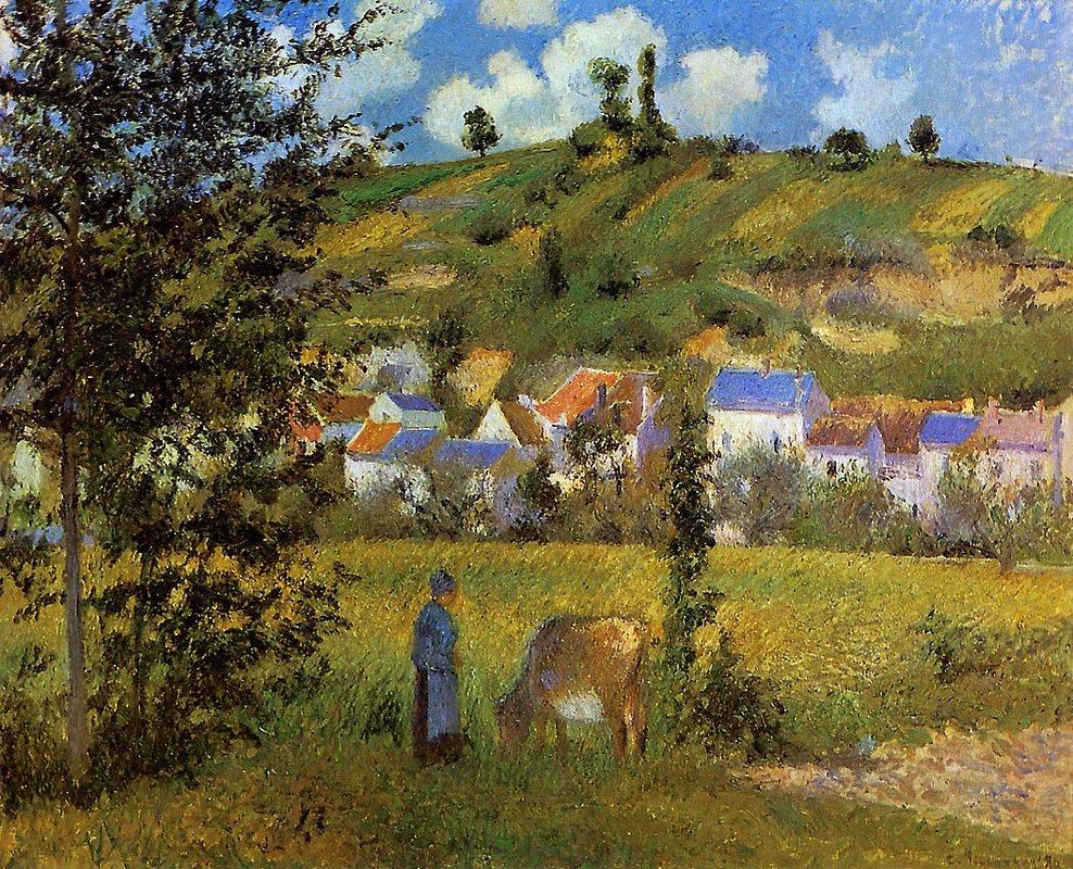 Landscape at Chaponval - Camille Pissarro