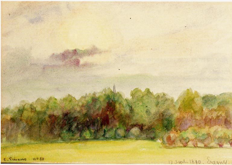 Landscape at Eragny - Camille Pissarro