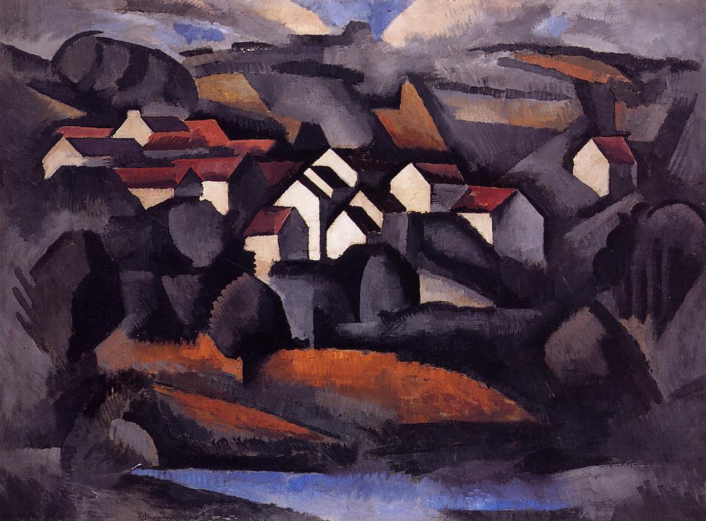 Landscape at Ferte Soud Jouarre - Roger de La Fresnaye