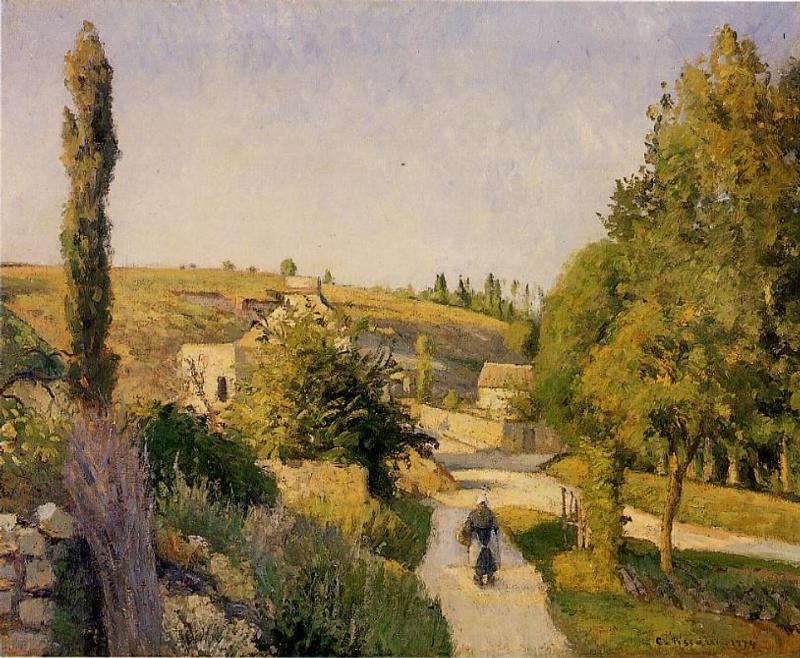 Landscape at l'Hermitage - Camille Pissarro