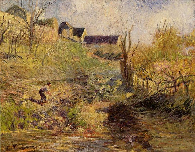 Landscape at Osny - Camille Pissarro
