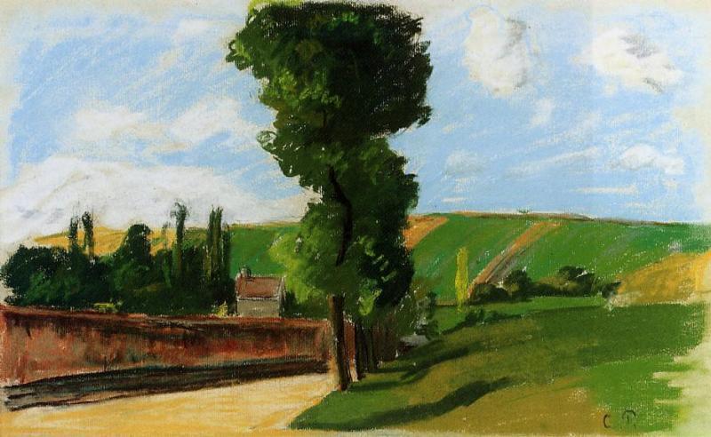 Landscape at Pontoise 2 - Camille Pissarro