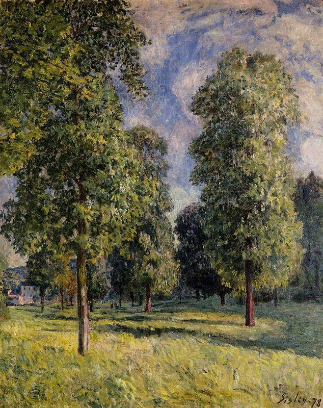 Landscape at Sevres - Alfred Sisley