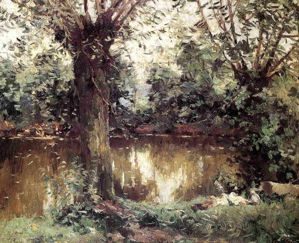 Landscape, Banks of the Yerres - Gustave Caillebotte