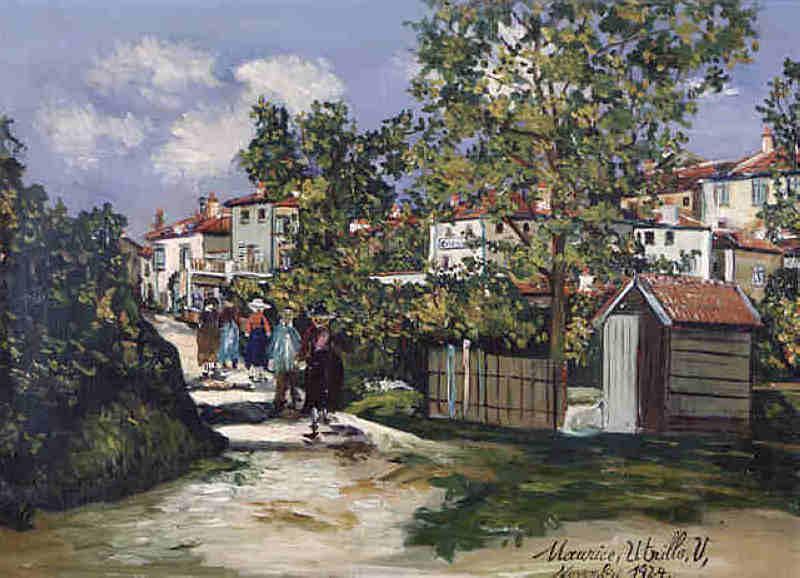 Landscape in Saint-Bernard - Maurice Utrillo