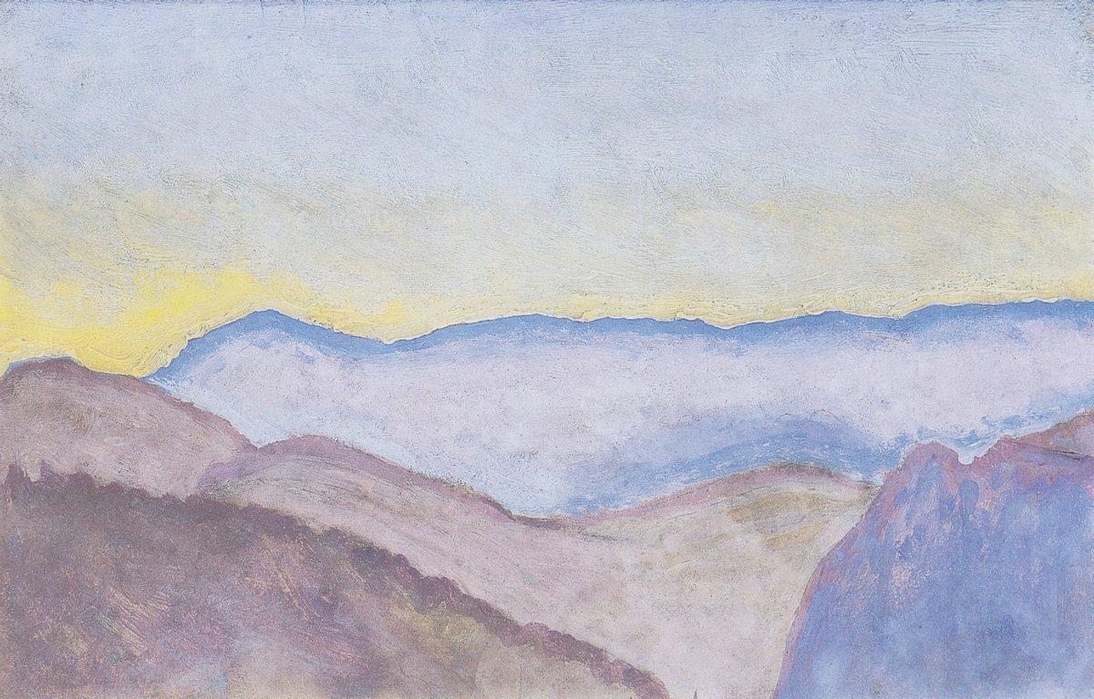 Landscape in Semmering with view of Rax - Koloman Moser