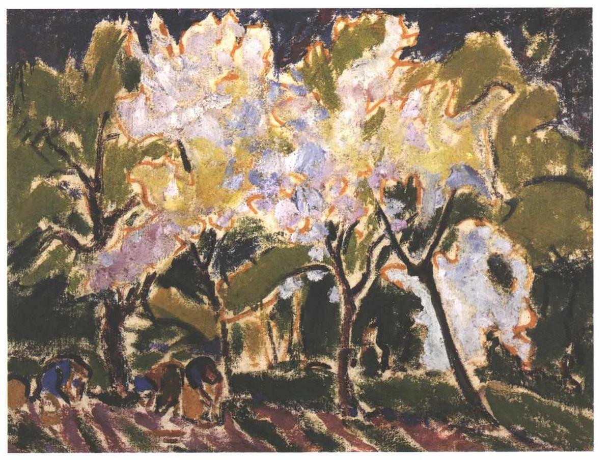 Landscape in the Spring - Ernst Ludwig Kirchner