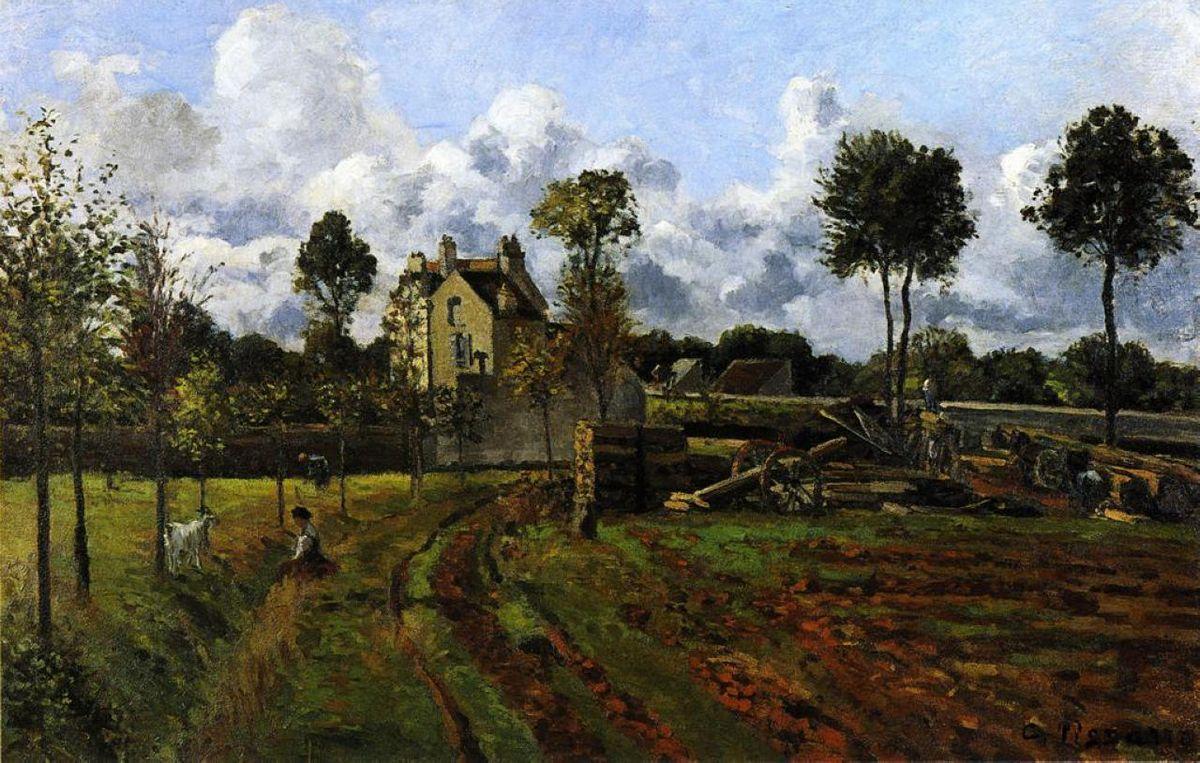 Landscape, Louveciennes - Camille Pissarro