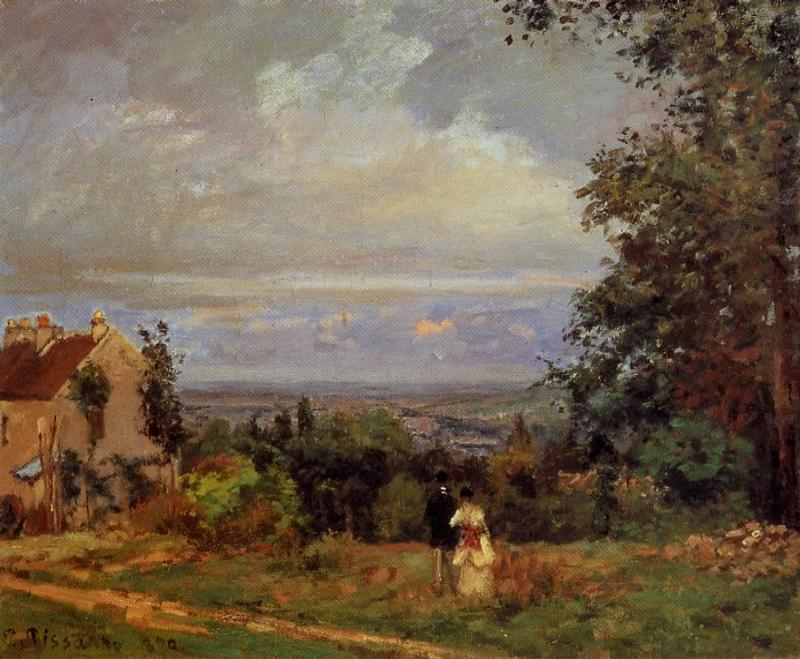 Landscape near Louveciennes - Camille Pissarro