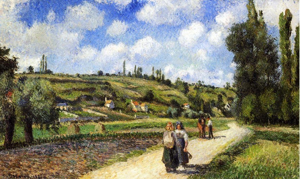 Landscape near Pontoise, the Auvers Road - Camille Pissarro