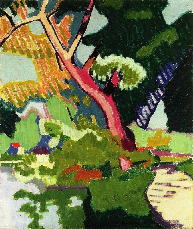 Landscape of a waterway  - Auguste Herbin