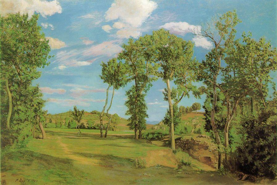 Landscape on the Shore of Lez - Frederic Bazille