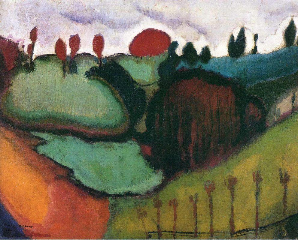 Landscape, Study for 'Paradise' - Marcel Duchamp