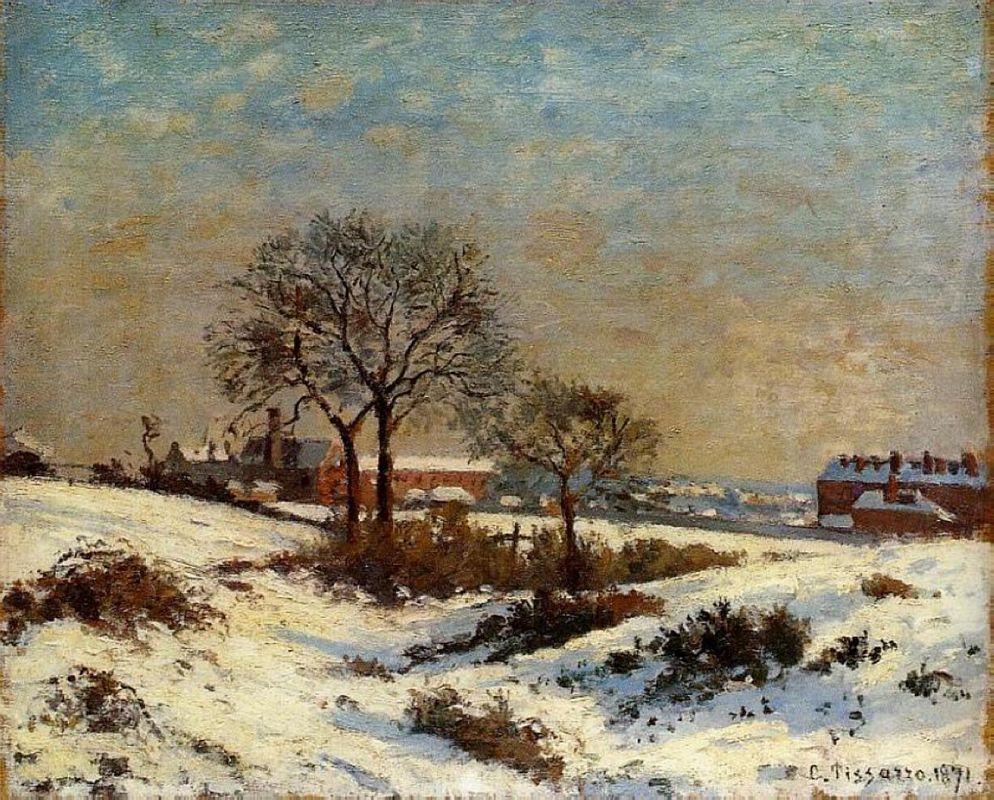 Landscape under Snow, Upper Norwood - Camille Pissarro