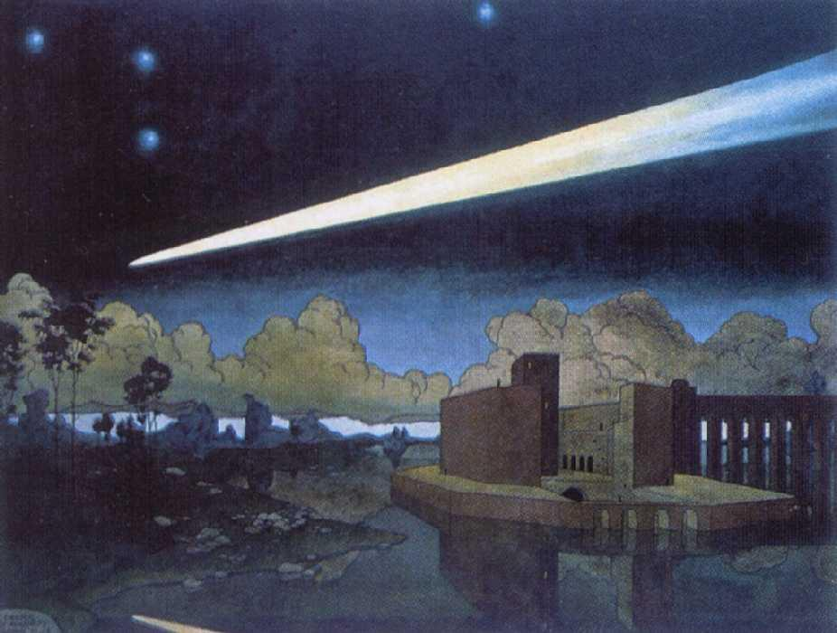 Landscape with a comet - Heorhiy Narbut