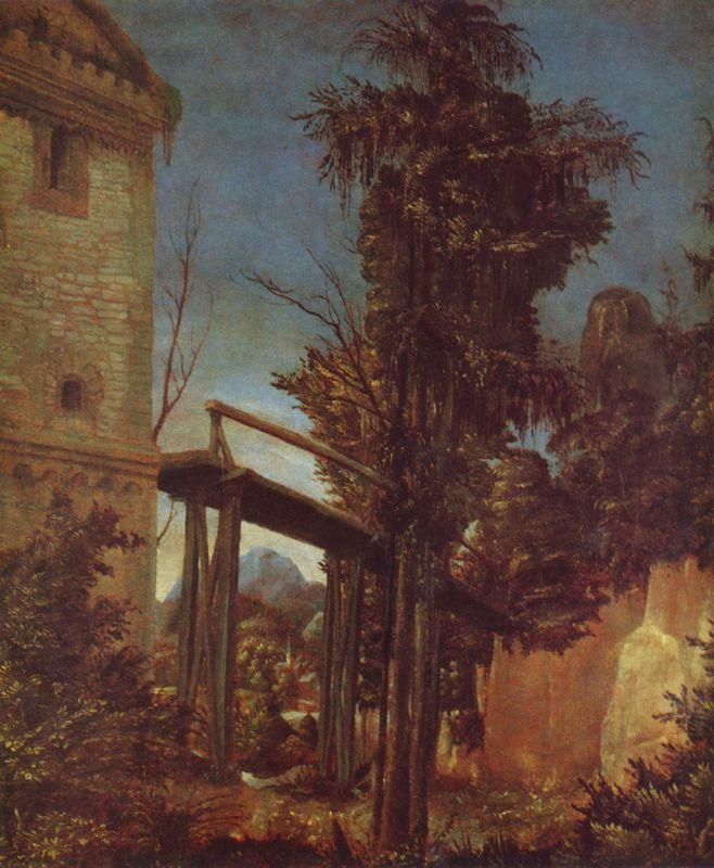 Landscape with a Footbridge - Albrecht Altdorfer