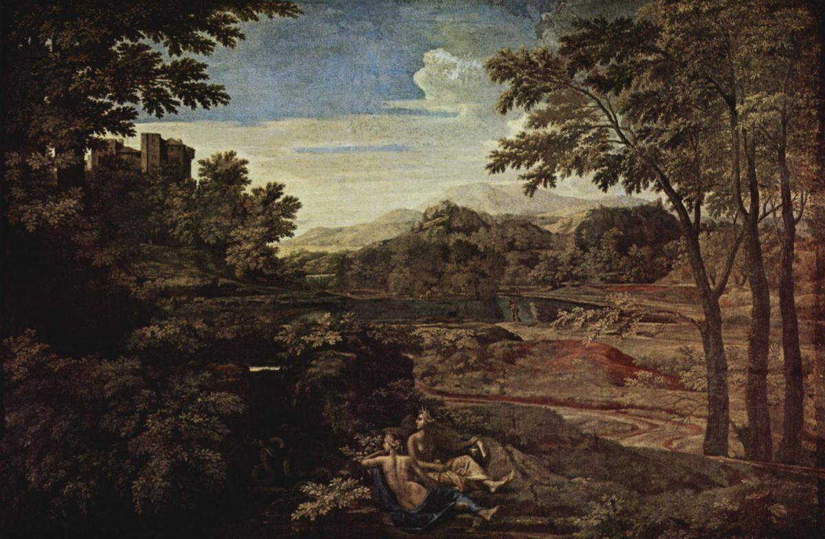 Landscape with a Man Killed by a Snake - Nicolas Poussin