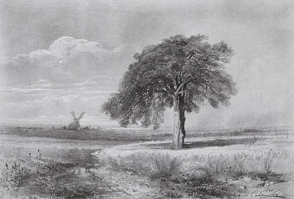 Landscape with a Mill - Aleksey Savrasov