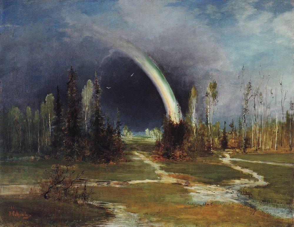 Landscape with a Rainbow - Aleksey Savrasov