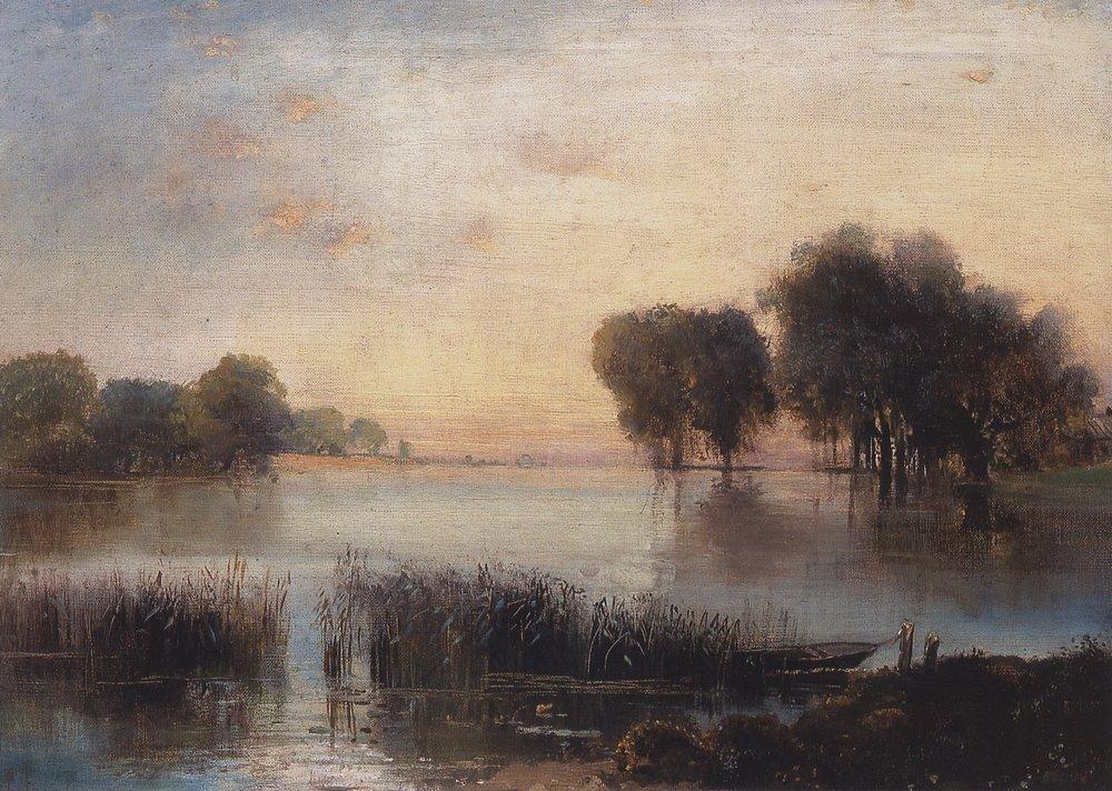 Landscape with a River - Aleksey Savrasov