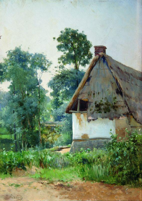 Landscape with an Abandoned House - Efim Volkov