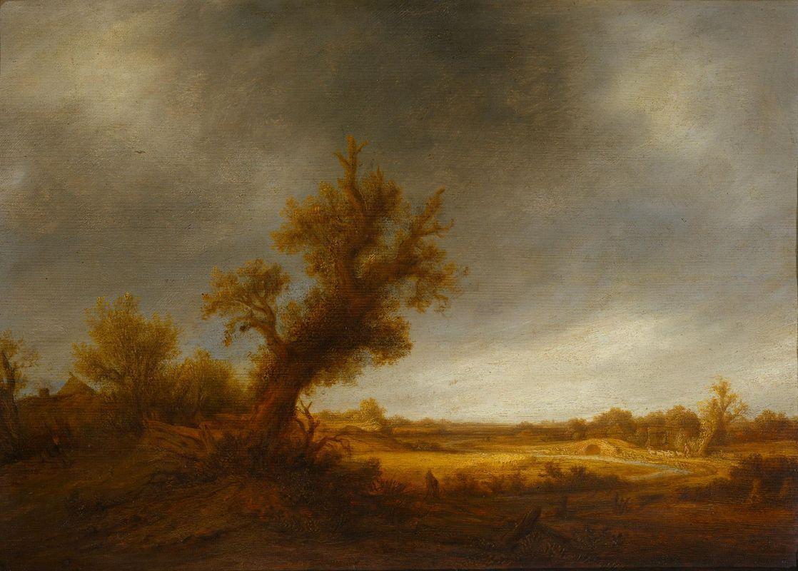 Landscape with an Old Oak - Adriaen van Ostade