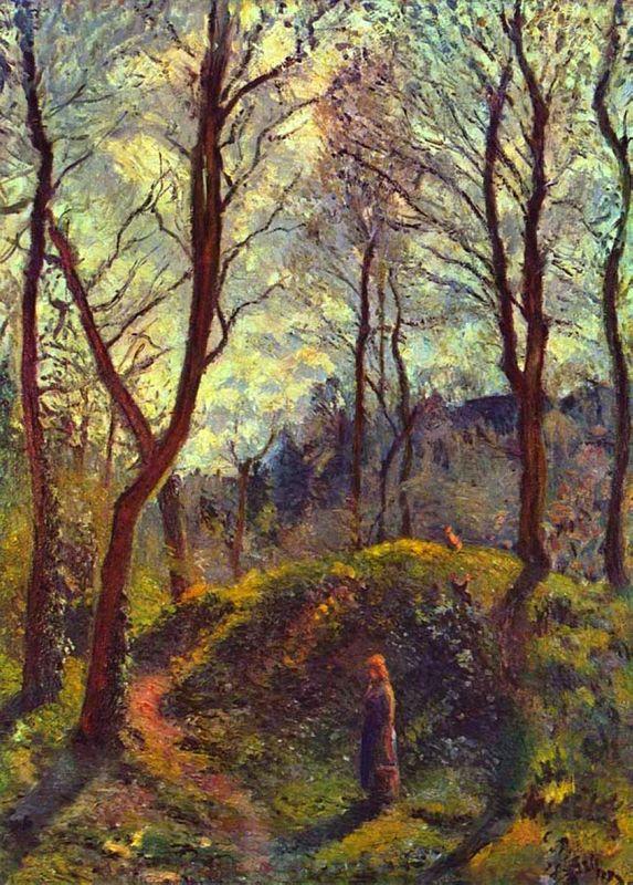Landscape with Big Trees - Camille Pissarro