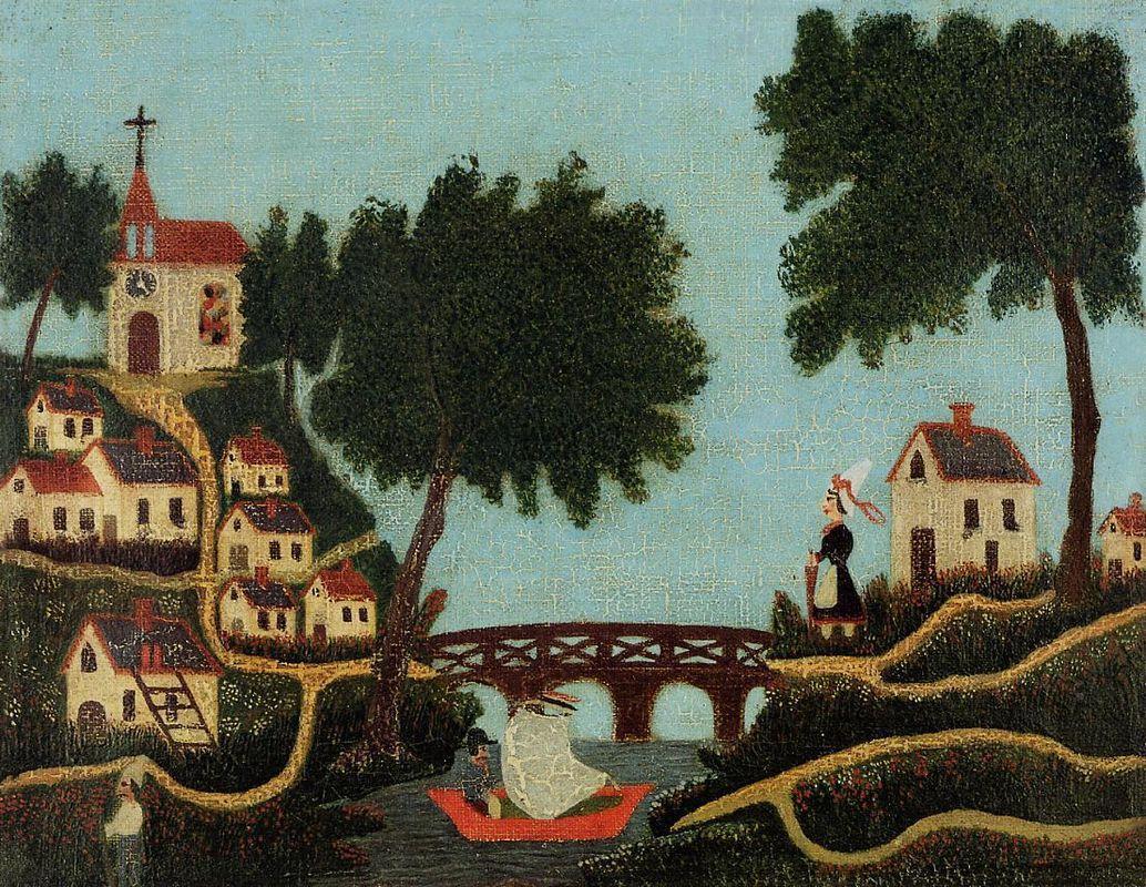 Landscape with Bridge - Henri Rousseau