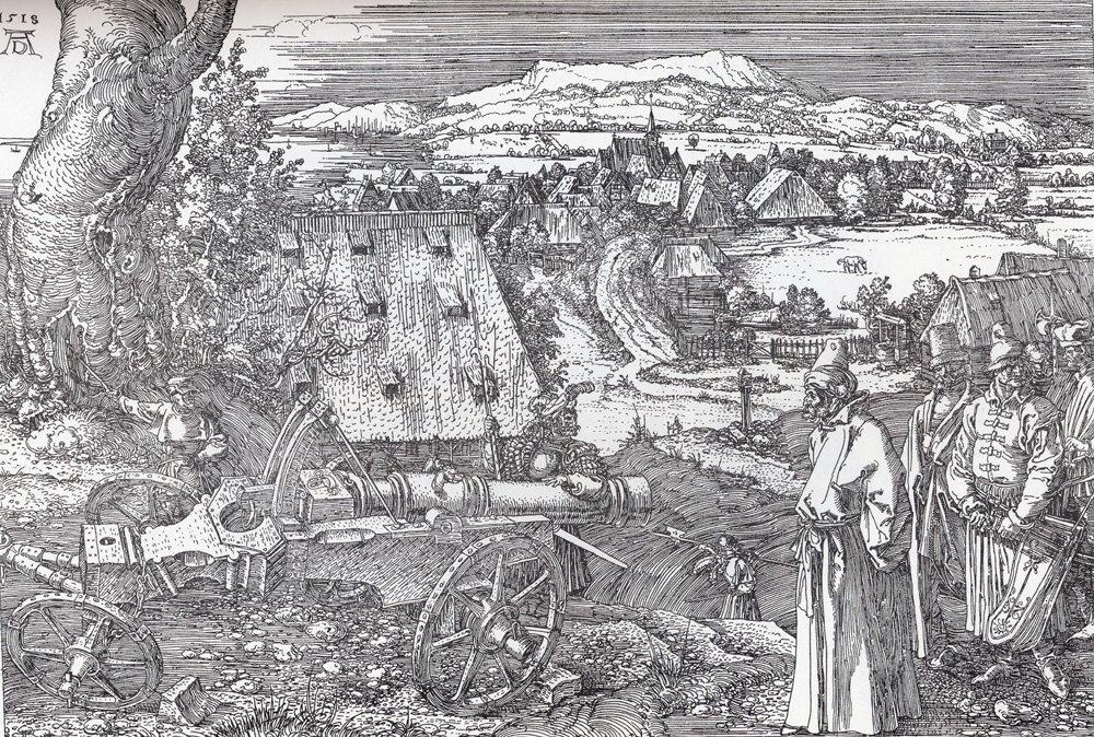 Landscape With Cannon - Albrecht Durer