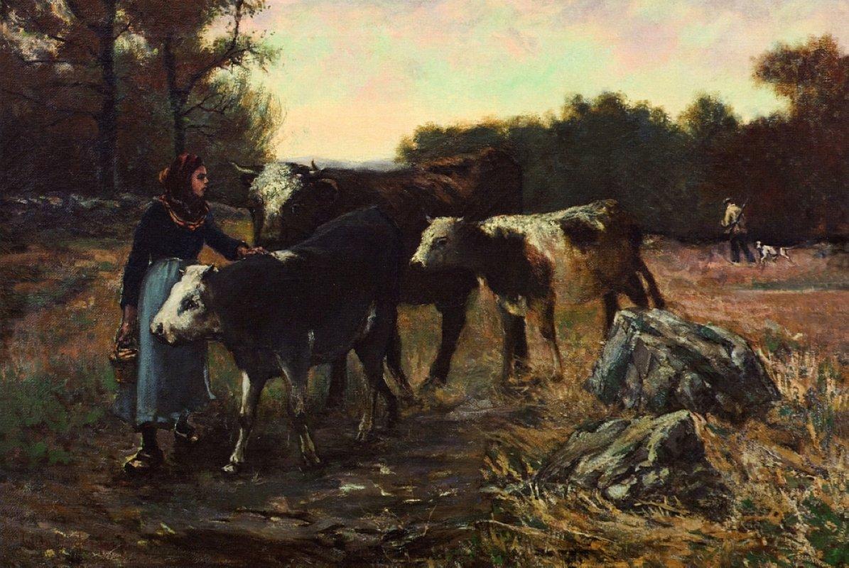 Landscape with Cattle - Robert Julian Onderdonk