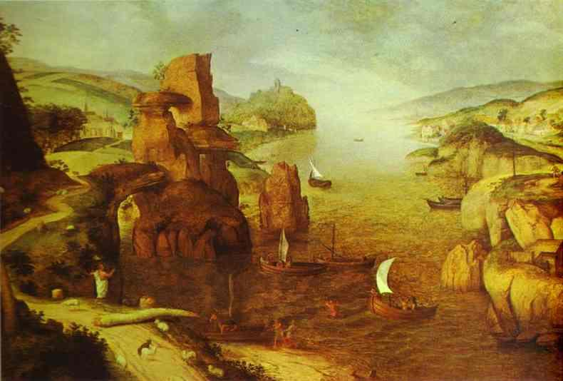 Landscape with Christ Appearing to the Apostles at the Sea of Tiberias - Pieter Bruegel the Elder
