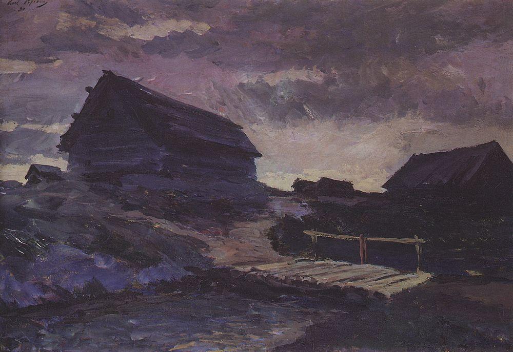 Landscape with cottages  - Konstantin Korovin