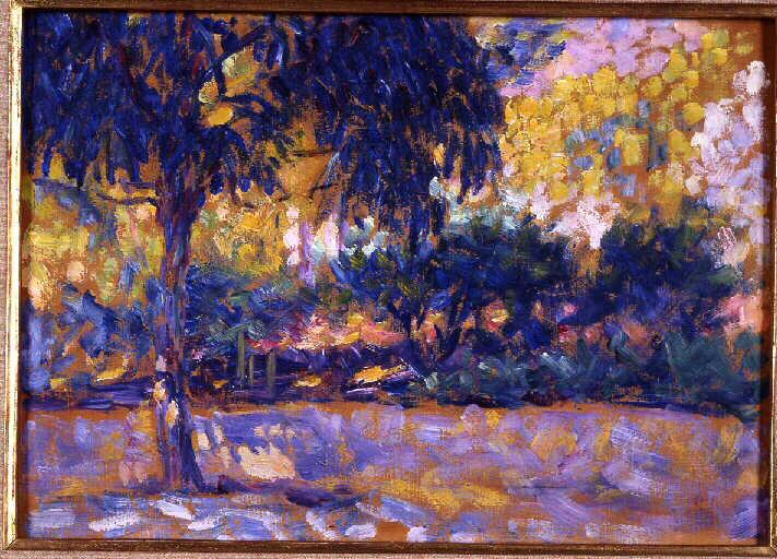 Landscape with eucalyptus trees and river. Trees in front of a river - Henri Matisse