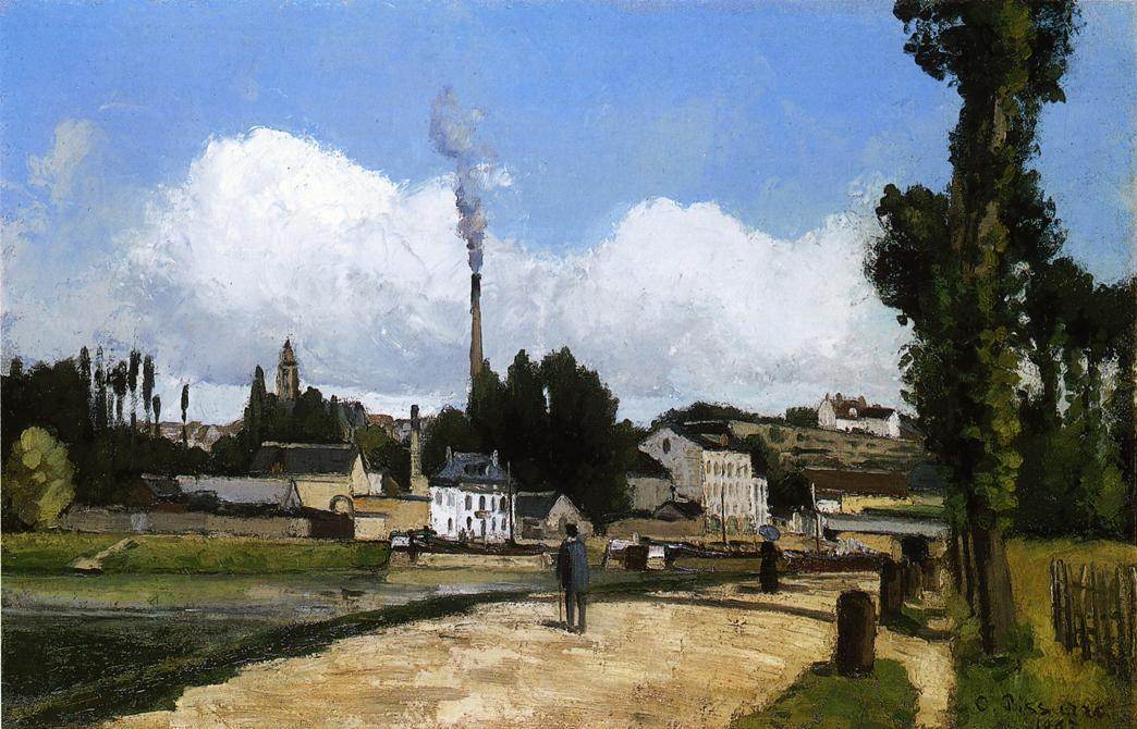 Landscape with Factory - Camille Pissarro