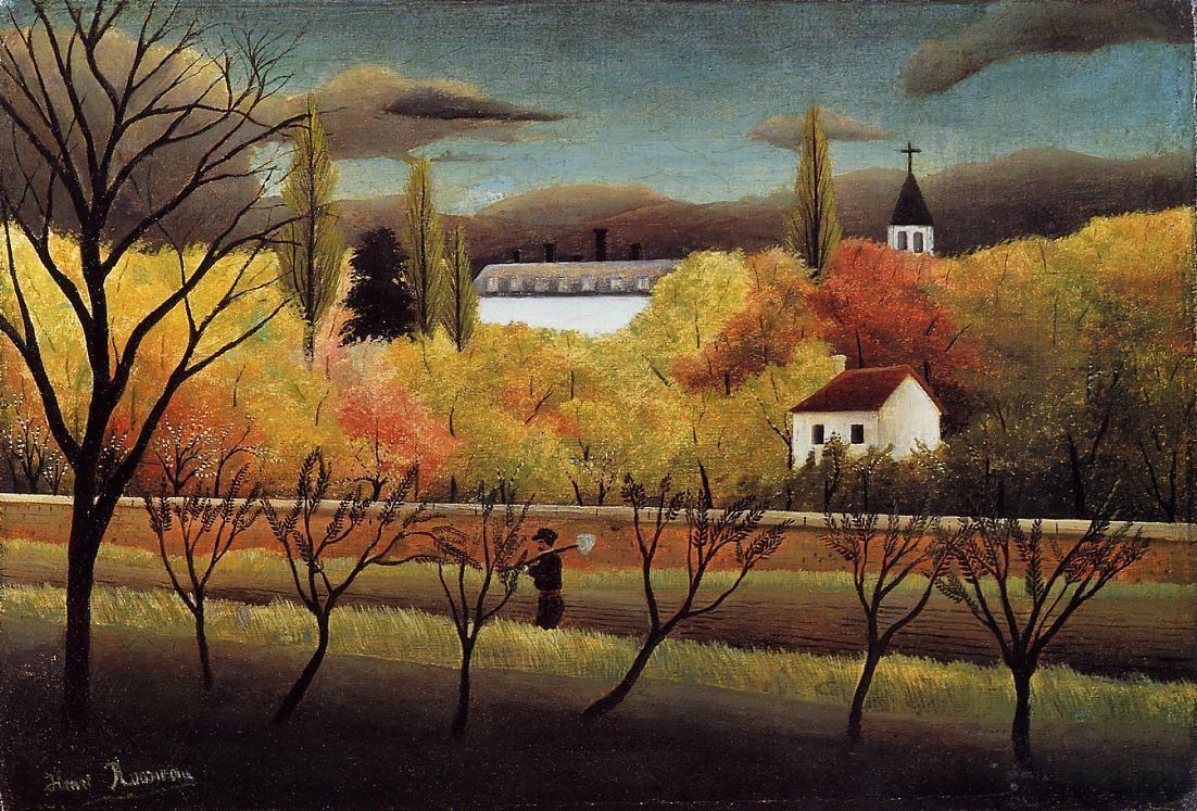 Landscape with Farmer - Henri Rousseau