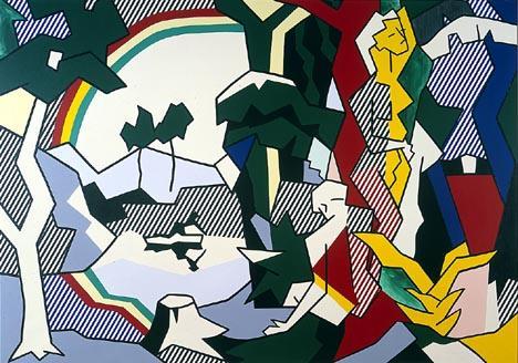 Landscape with figures and rainbow - Roy Lichtenstein