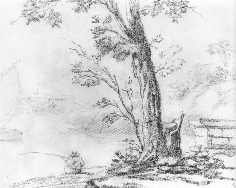 Landscape with Fisherman - Orest Kiprensky