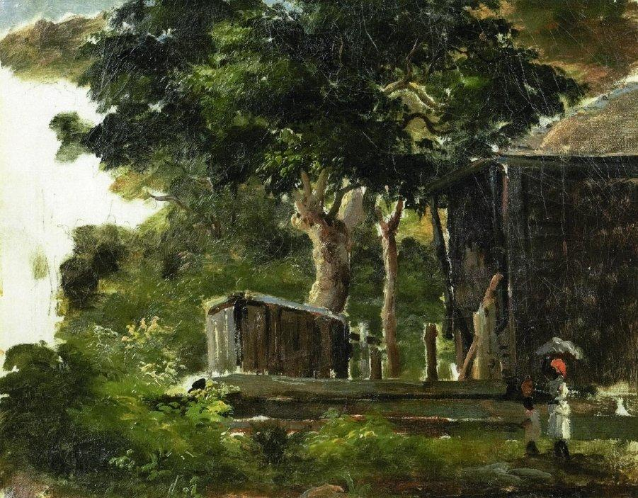Landscape with House in the Woods in Saint Thomas, Antilles - Camille Pissarro