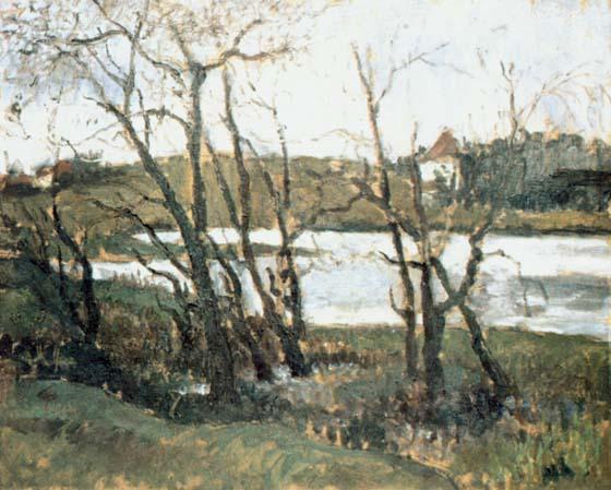 Landscape with Lake - Konstantin Makovsky