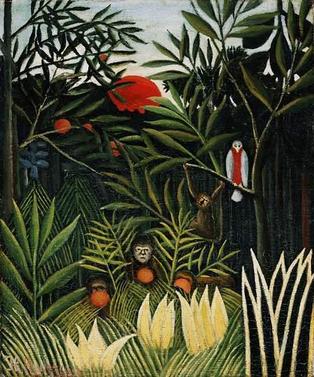 Landscape with Monkeys - Henri Rousseau