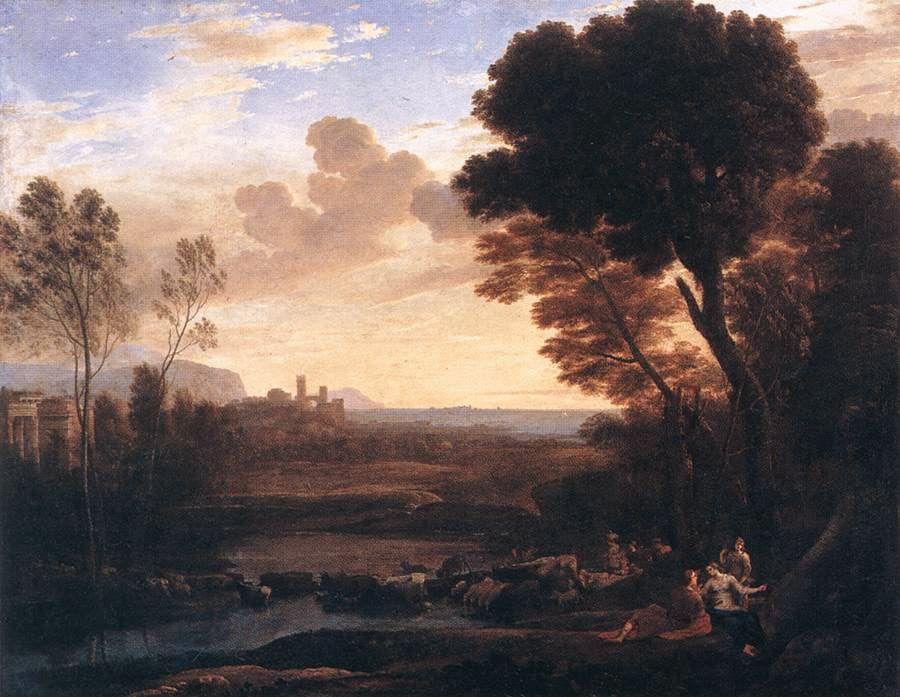 Landscape with Paris and Oenone - Claude Lorrain