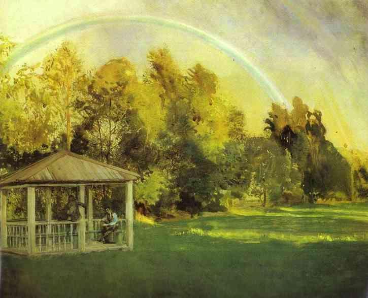 Landscape with Pavillion - Konstantin Somov