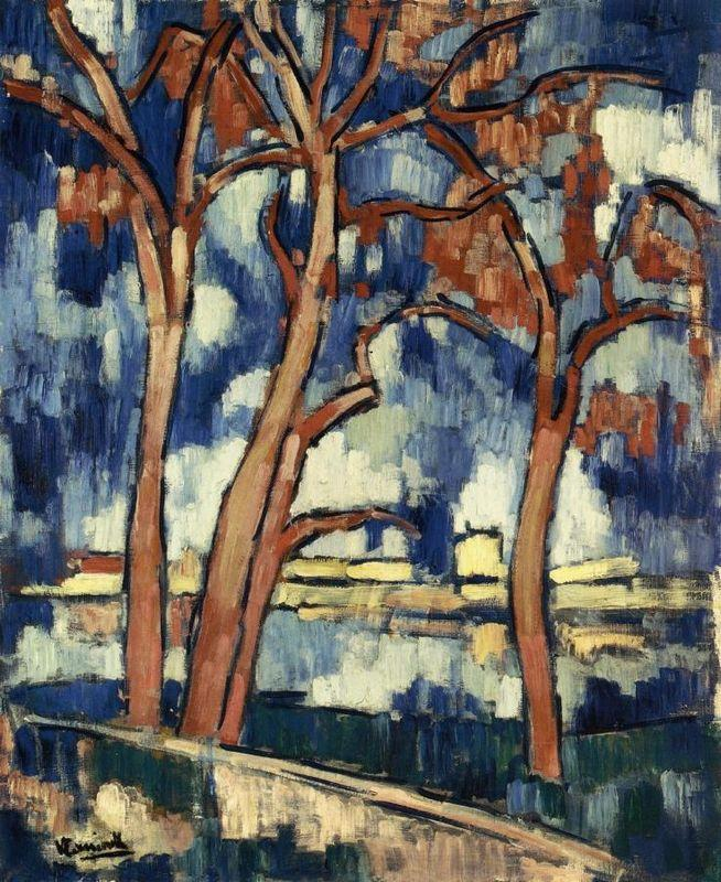 Landscape with Red Trees Chatou - Maurice de Vlaminck