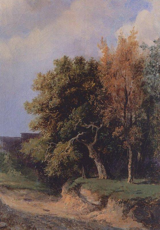 Landscape with road - Aleksey Savrasov