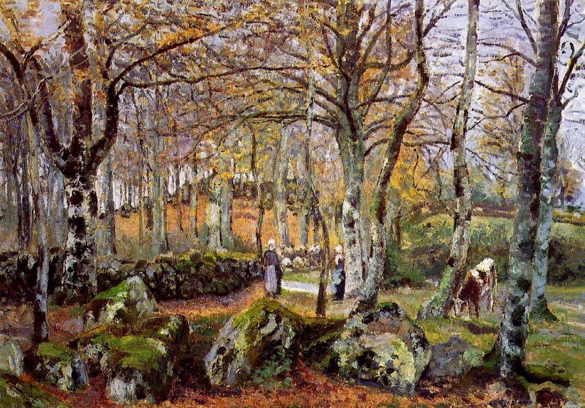 Landscape with Rocks, Montfoucault - Camille Pissarro