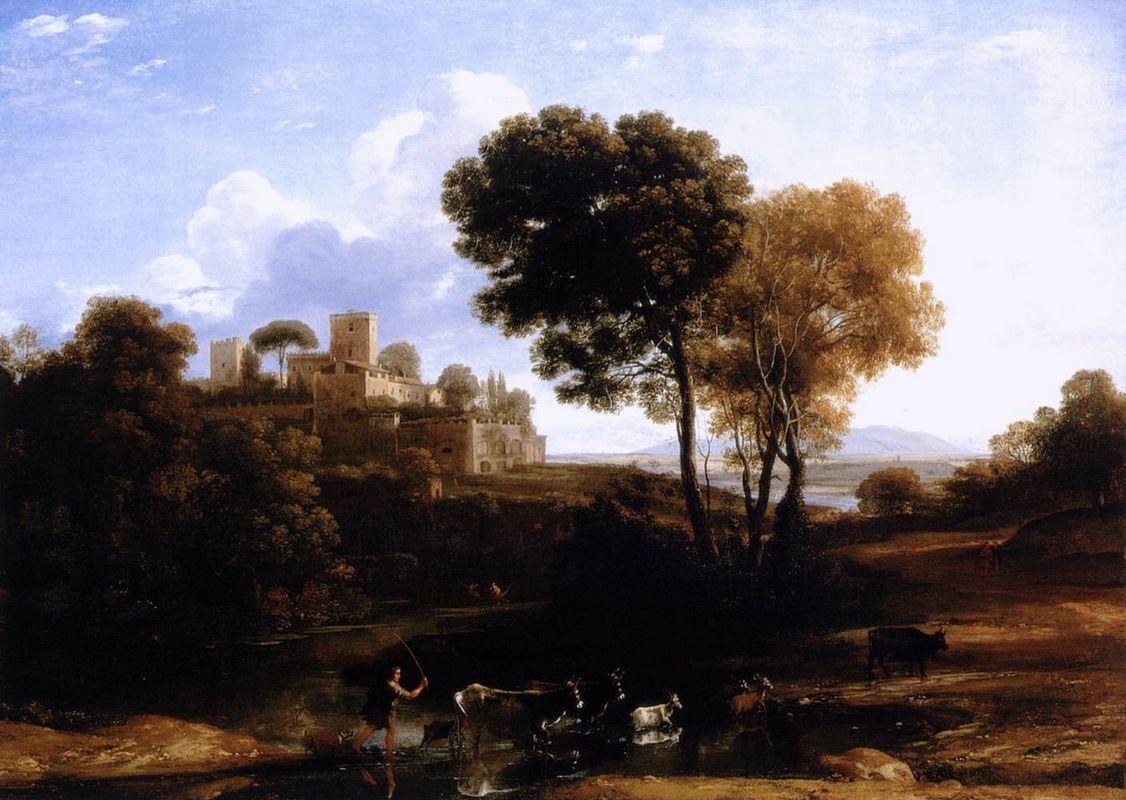 Landscape with shepherds - Adriaen van de Velde
