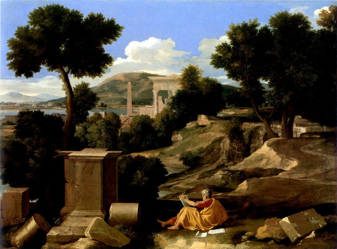 Landscape with St. James in Patmos - Nicolas Poussin