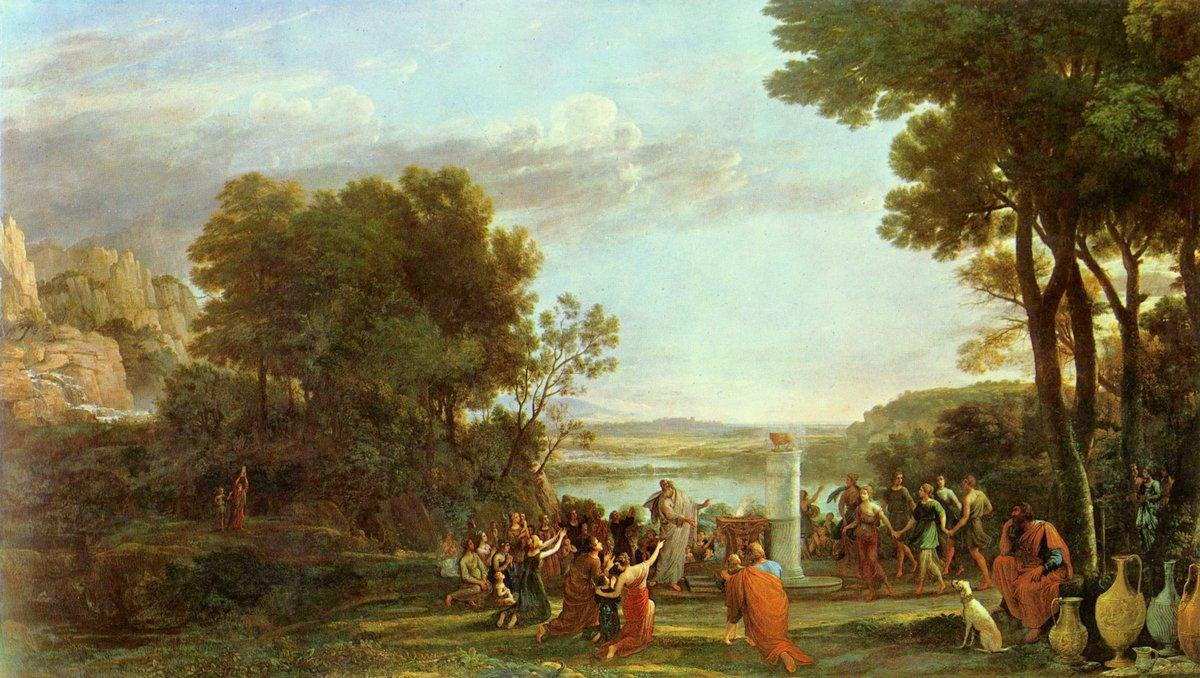 Landscape with the Adoration of the Golden Calf - Claude Lorrain