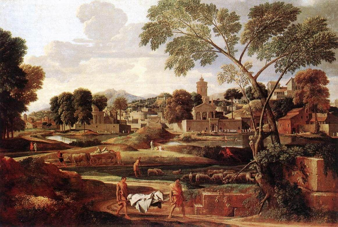 Landscape with the Funeral of Phocion - Nicolas Poussin