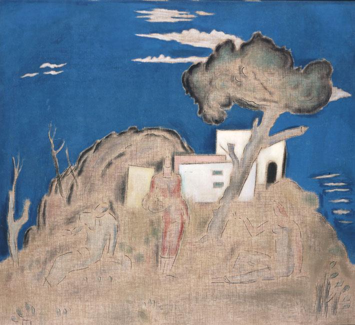 Landscape with Three Figures - Konstantinos Parthenis